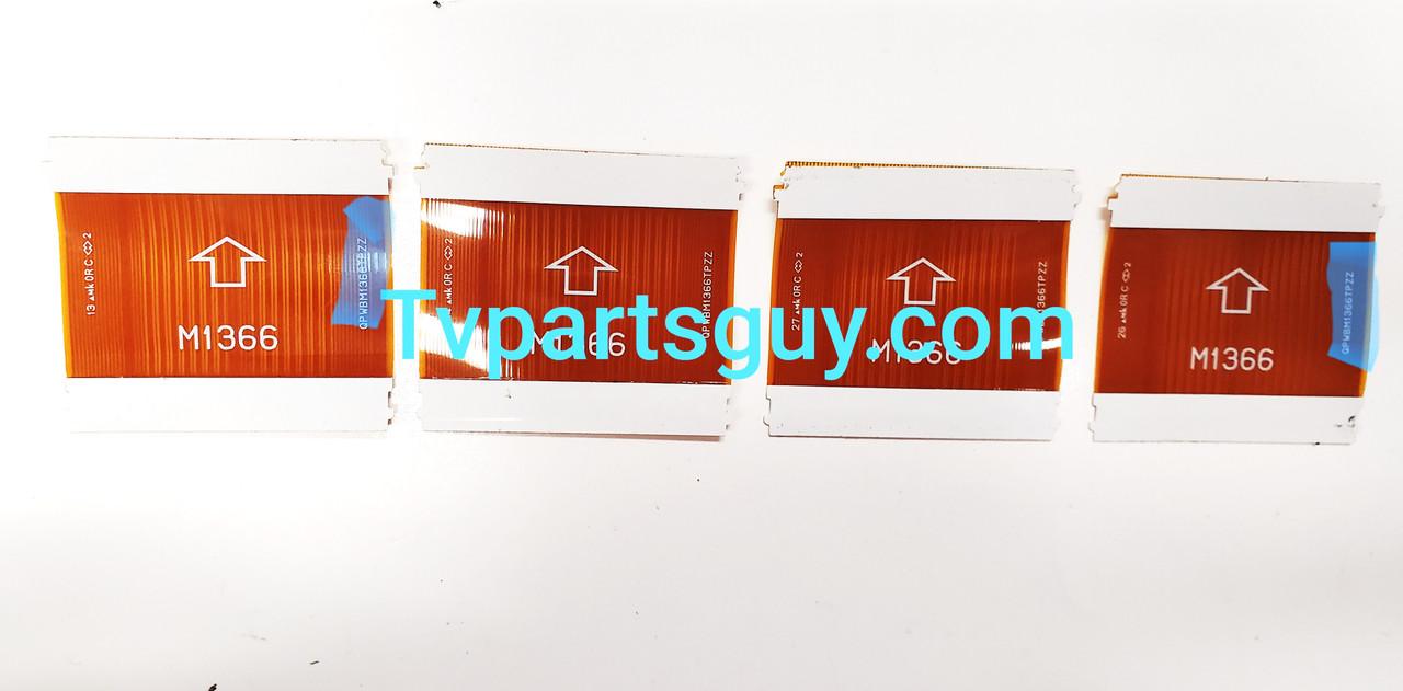 Samsung UN60D7000VF Tcon board to Panel ribbon cables QPWBM1366TPZZ