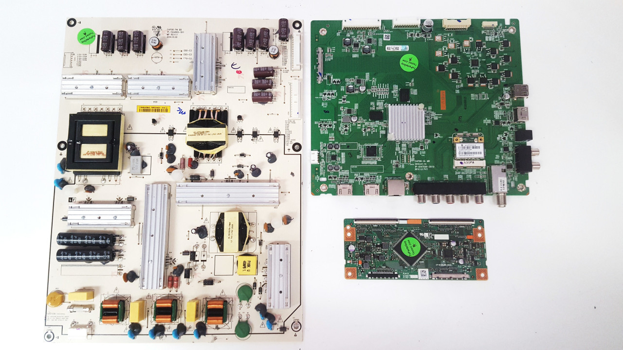 Vizio E60-C3 Main board / Power Supply board & Tcon board KIT 0160CAP08101 / 09-60CAP080-01 / RUNTK5489TP Serial# LFTRRZAR / LFTRRZAS