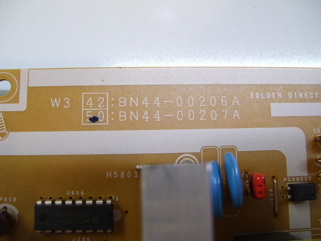 Samsung PN50A450P1DXZA Power Supply board PSPF521701A / BN44-00207A chipped corner