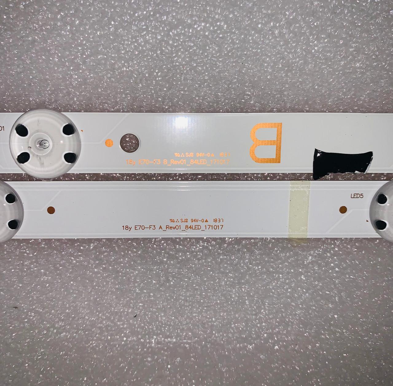 Vizio E70-F3 LED Light Strips set of 12 171017