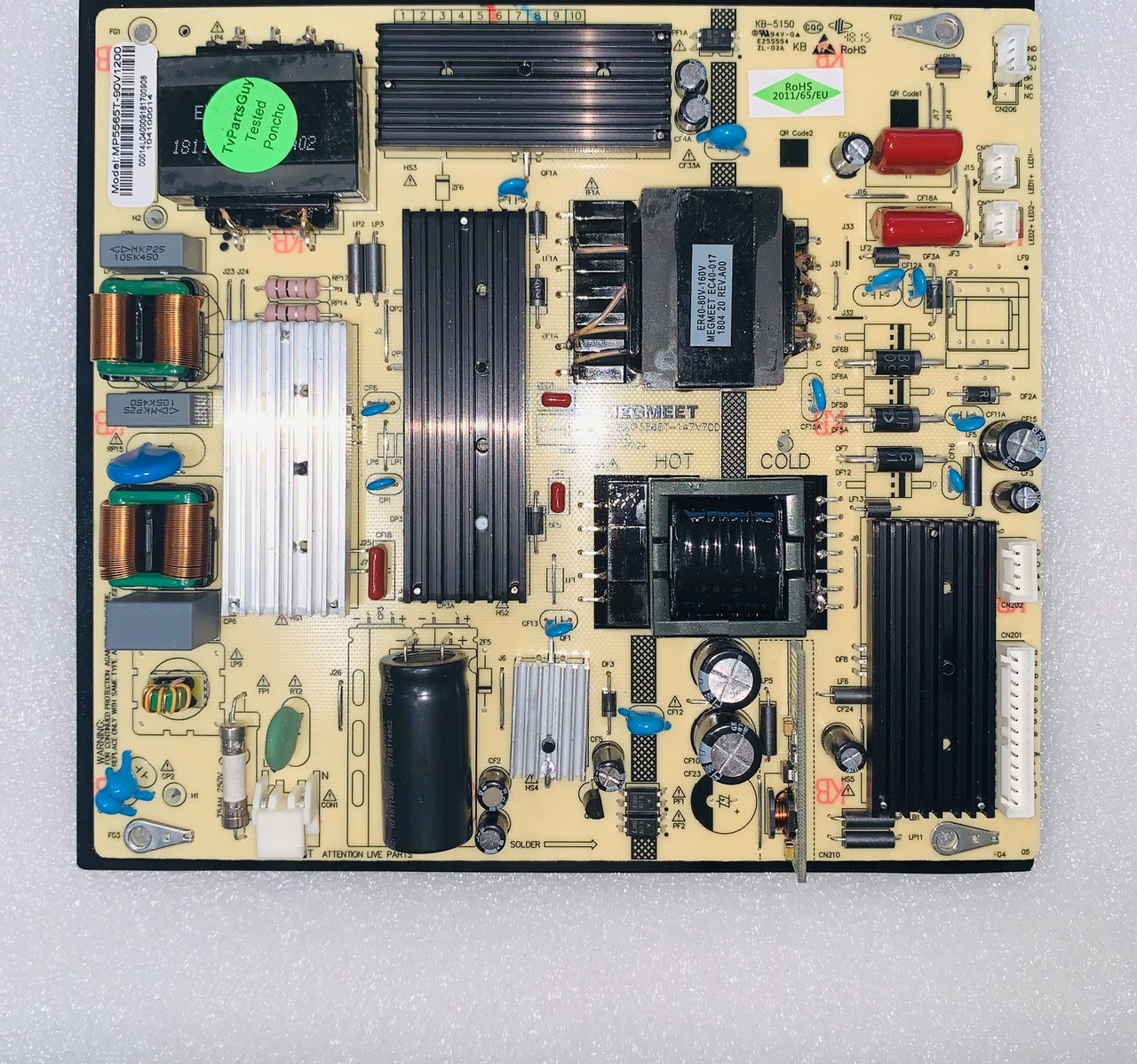 Westinghouse WG55UX4100 Power Supply board MP5565T-147V700 / MP5565T-90V1200