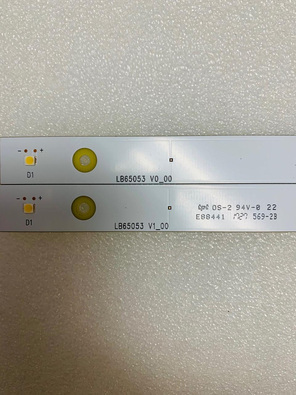 Vizio P65-E1 LED light strips complete set of 16 T650QVF06.121 / LB65053