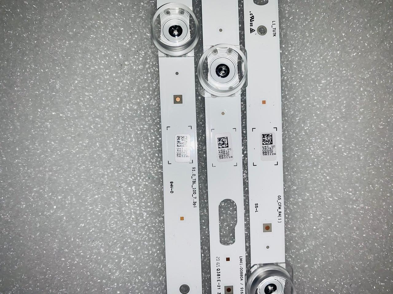 Samsung UN75TU7000F LED light strips set of 18 BN96-50310A & BN96-50311A & BN96-50312A