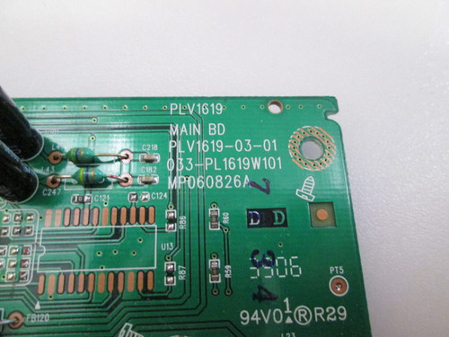 TRUTECH PLV16190 MAIN BOARD PLV1619-03-01 / 033-PL1619W101 (NO ATTACHED WIRES)