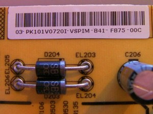 INSIGNIA  NS-42PDP POWER SUPPLY BOARD 667-PH42FB6-20 / 782.PH42D8-200C