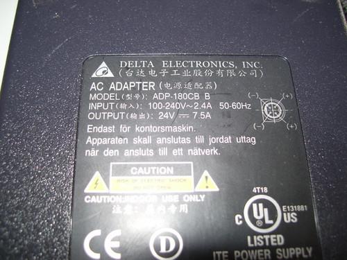 SCEPTRE AC ADAPTER ADP-180CBB / 185-118001-301