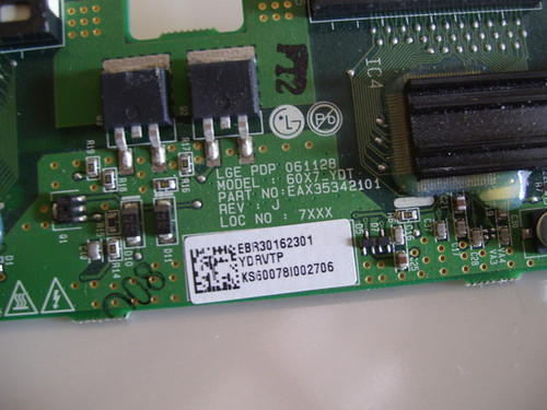NEC 60XP10 TOP Y DRIVE EAX35342101 / EBR30162301