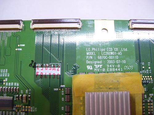 MINTEK DTV-260 T-CON BOARD 6870C-0011D / 6871L-0505A