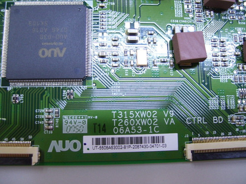 MEMOREX MLTD3222 T-CON BOARD T315XW02 V9 / T260XW02 VA CTRL BD / 06A53-1C / 5506A53002