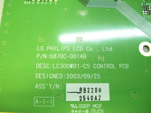 MITSUBISHI LT-3050 T-CON BOARD 6870C-0014B / 6871L-0540A