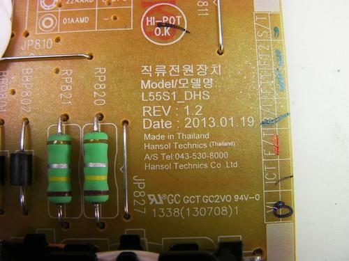 SAMSUNG UN65F6300AF POWER SUPPLY BN44-00612B / L55S1_DHS (MXBN44-00612B)