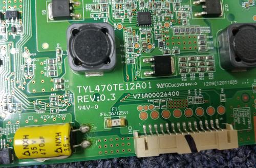TOSHIBA 47L7200U LED DRIVER TYL470TE12A01 / V71A00026400