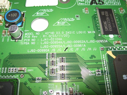 DELL W4200HD MAIN LOGIC LJ92-00990D / LJ41-02104A