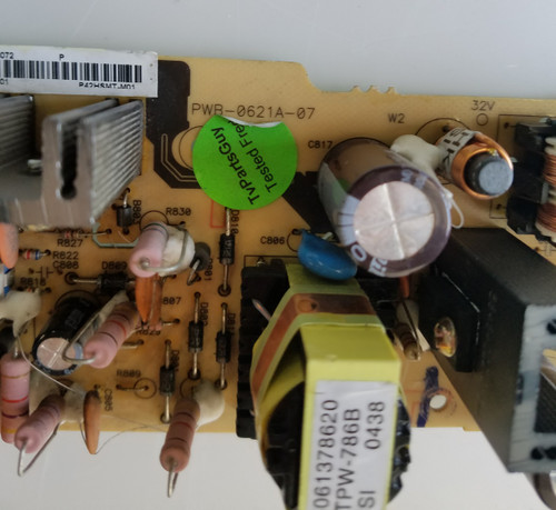 "TV LCD 42"", TATUNG, P42HSMT, POWER SUPPLY, PWB-0621A-07, PWB-0621A-07"