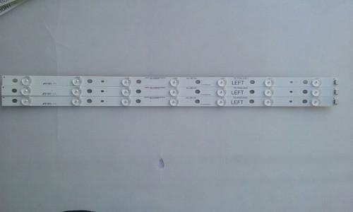 """TV LED 55"""" ,PANASONIC, TC-55AS530U, LED STRIPS, 75.P2Q01G001 LEFT, IC-B-HWBR55D345L"""