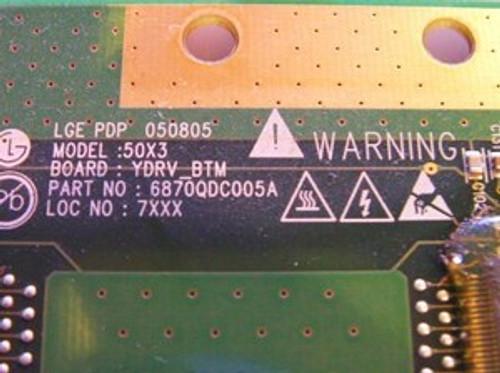 ZENITH Z50PX2D BUFFER BOARD 6871QDH089A / 6870QDC005A