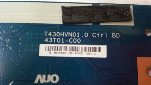 "TC LED 50"", QUASAR ,SQ5003, T-CON BOARD, 55.50T15.C07 ,T430HVN01,43T01-C00"