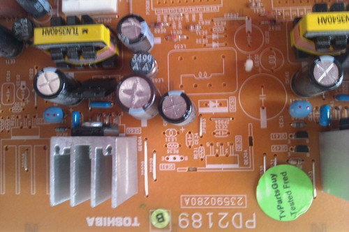 TOSHIBA, 37HLX95, POWER SUPPLY, PD2189B, 23590280A