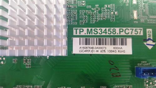AVERA 49EQX10 MAIN BOARD TP.MS3458.PC757 / A16087646