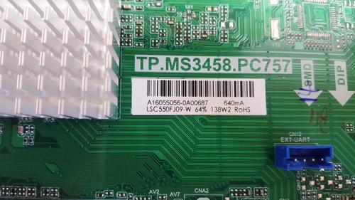 POLAROID 55GTR3000 MAIN BOARD / POWER SUPPLY BOARD TP.MS3458.PC757 / A16055056