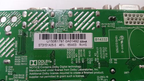 POLAROID 32GSR3000 MAIN BOARD TP.MS3393.PB851 / U15061797 / ST3151A05-5