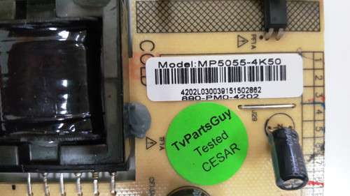 Westinghouse WE42UX3200 Power Supply board MP5055-4K50 / 890-PM0-4202