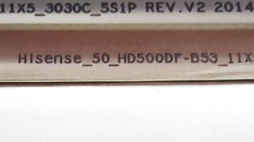 Hisense / SHARP / Insignia Original LED Light strips set of 11 HD500DF-B53