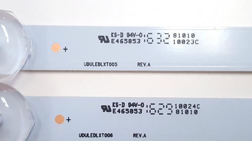 PHILIPS 55PFL5601/F7 LED LIGHT STRIPS SET OF 4 UDULEDLXT005 & UDULEDLXT006