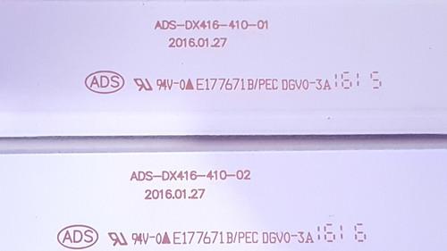 Seiki SE42FYP1T LED Light Strips set of 4 ADS-DX416-410-01 & ADS-DX416-410-02