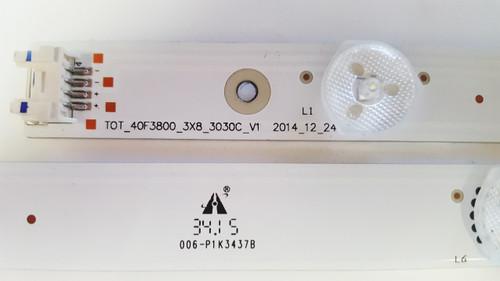 TCL 40FS3750 LED LIGHT STRIPS SET OF 3 TOT_40F3800_3X8_3030C_V1 / 006-P1K3437B