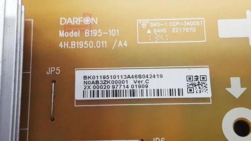 SANYO DP55D33 POWER SUPPLY BOARD 4H.B1950.011 / N0AB3ZK00001