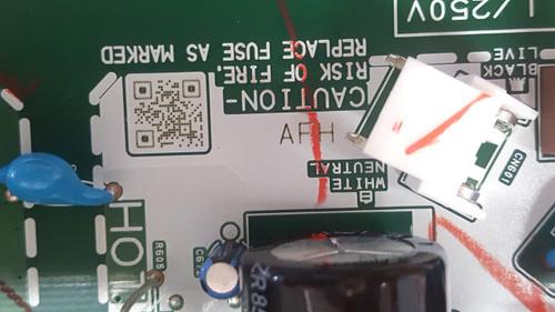 Sanyo FW32D06F Main board / Power Supply board BA6AFHG02011 / A6AFHUT