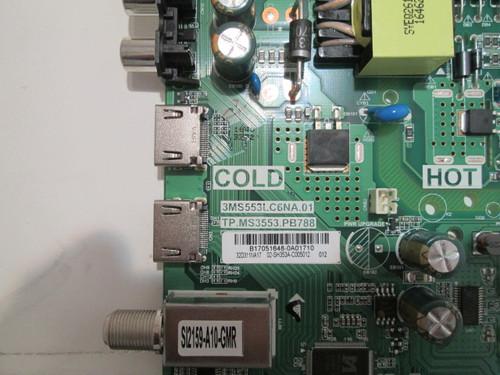 Insignia NS-32D311NA17  Main board 3MS553LC6NA.01 / TP.MS3353.PB788 / B17051648