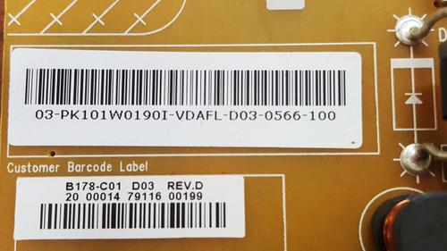 Panasonic TC-L39B6X Power Supply board 4H.B1780.131 / PK101W0190I Chipped corner