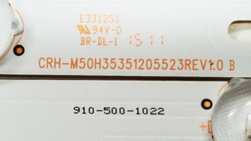 Seiki SE50FYT LED Light Strips set of 10 CRH-M50H35351205523REV1.0B / 910-500-1022