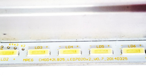 Changhong UD42YC5500UA LED Light Strips in metal casing CHGD42LB25 & CHGD42LB26