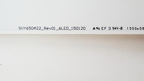 Sony XBR-65X810C LED light strips Complete set of 10 SVY650A22 Rev01 6LED 150120