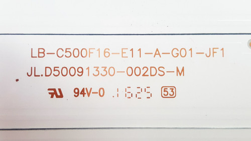 Hitachi 50A3 LED Lights strips set of 4 JL.D50091330-002DS-M / LB-C500F16-E11-A-G01-JF1