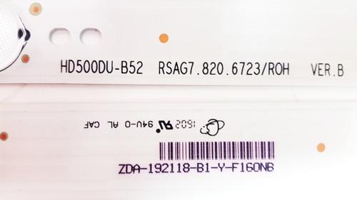 Hisense 50H7C LED Light Strips set of 2 HD500DU-B52 / RSAG7.820.6723