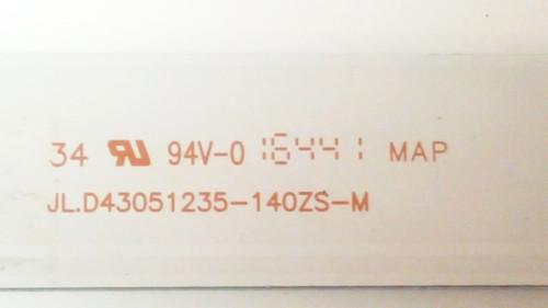 """Hitachi 43"""" LED Light Strips set of 8 JL.D43051235-140ZS-M"""