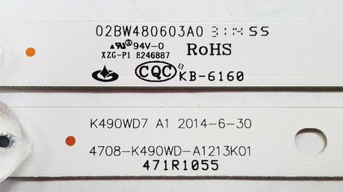 Sceptre U500CV-UMK LED Light Strips set of 9 4708-K490WD-A1213K01