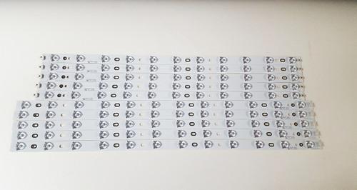 Toshiba / Philips / Sanyo LED Light strips complete set V580H1-LD6-TLDC2 & V580H1-LD6-TRDC2
