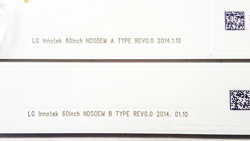 SONY KDL-60W610B LED light strips Complete set of 16 LG Innotek 60Inch NDSOEM A TYPE / B TYPE