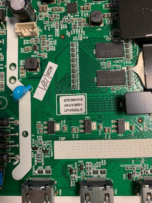 TCL 32S3750 Main board / Power Supply board 40-UX38M0-MAD2HG / V8-UX38001-LF1V025