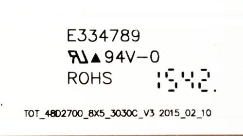 Hitachi LE48M4S10 LED Light Strips Complete set of 8 48D2700