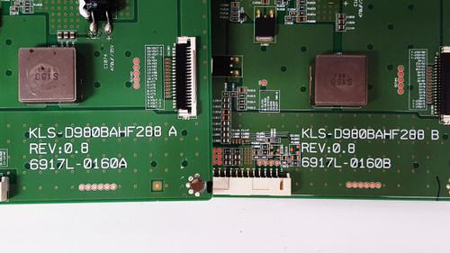 NEC C981Q Monitor LED Driver Set 6917L-0160A & 6917L-0160B