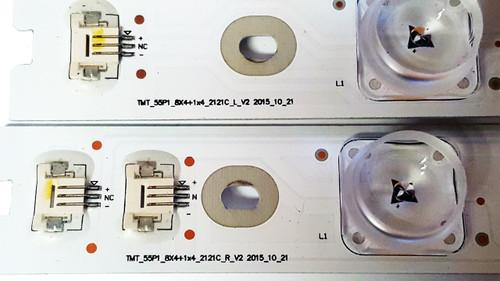 NEW TCL 55UP120 / 55up130 LED Light Strips Complete Set of 9 TMT_55P1_8X4+1X4_2121C_L / R