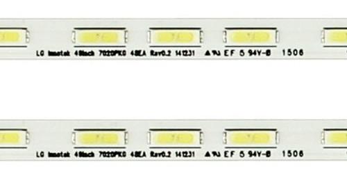 Sony XBR-49X830C LED Light Strips in metal casing 75.P3B21G001 15911D / LG INNOTEK 49INCH 7020PKG 48EA REV0.2 141231