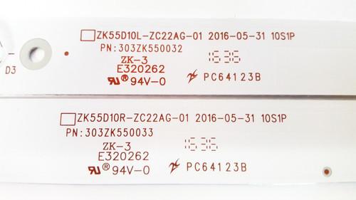 Sceptre U550CV-UMR LED light strips Complete set of 10 ZK55D10L-ZC22AG-01 & ZK55D10R-ZC22AG-01