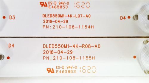 Polaroid 55GTR3000 LED Light Strips set of 12 210-108-1054H & 210-108-1055H